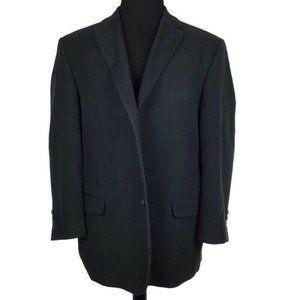 Jeff Banks Charcoal Gray Cotton Blend Career Blazer